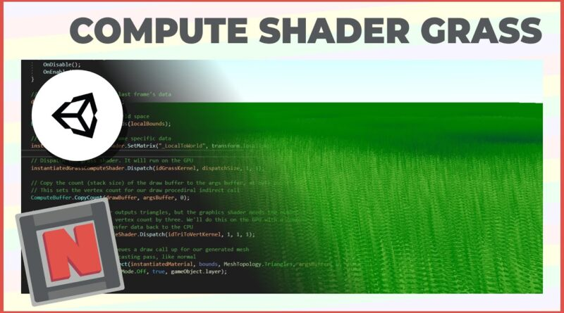 Endless Fields of Grass in URP with a Compute Shader!   Game Dev Tutorial