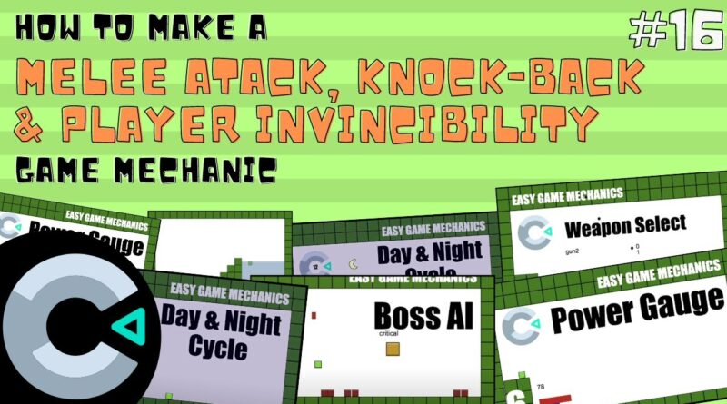 Construct3: Melee Attack with Knockback & Invincibility, Easy Game Mechanics 16