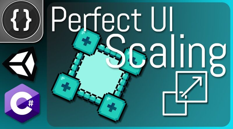 How to Make Perfectly Scaling UI [Unity Tutorial]