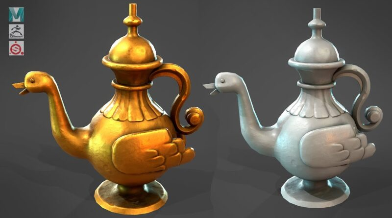 How to make a Stylized Lamp with Maya, Zbrush, and Substance Painter