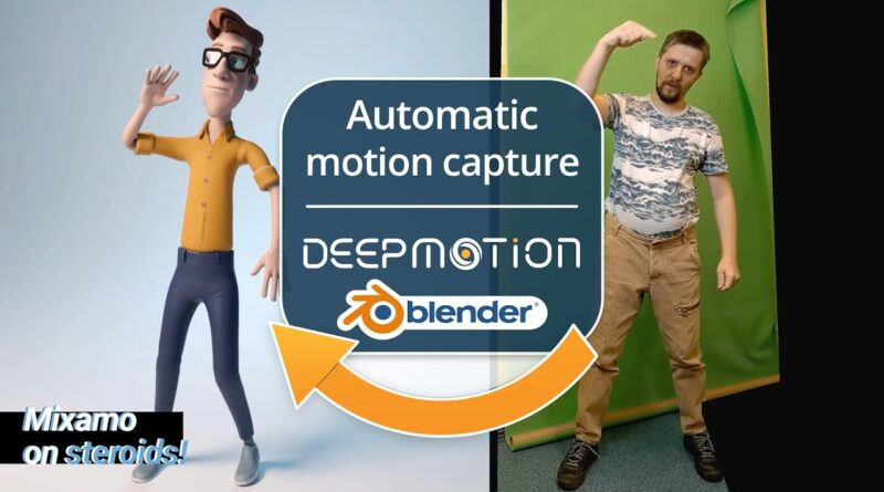 Automatic motion capture with Deepmotion and Blender