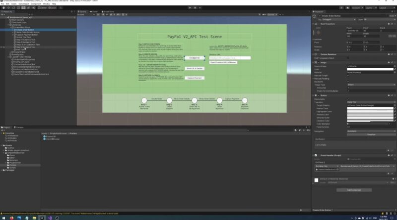 Unity Embedded Browser Tutorial With Simple PayPal Storefront