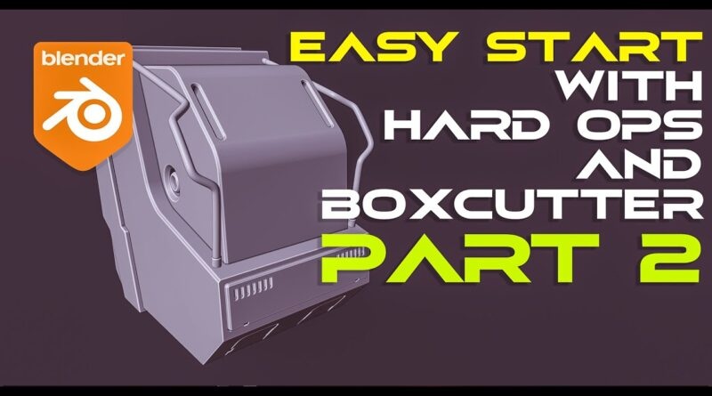 Scifi HARD SURFACE tutorial for BEGINNERS in Blender with Hard OPS and Boxcutter PART 2
