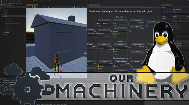 The Machinery Game Engine -- Linux & Ray Tracing Added