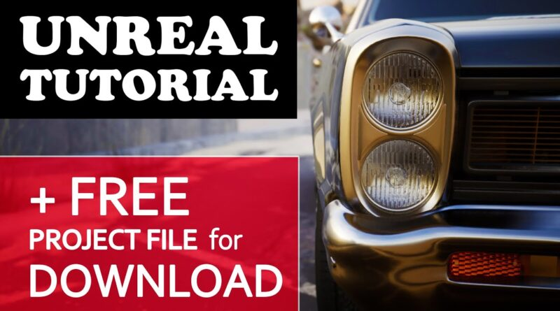 Unreal Engine Tutorial - Automotive Real Time Ray Tracing Film Cinematography Virtual Production