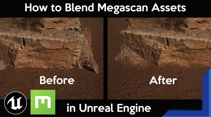 Unreal Engine 4: How to Quickly Blend Megascan Assets with the Landscape