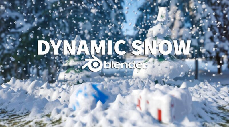 Real-Time Dynamic Snow Effects | Blender 2.8 Tutorial
