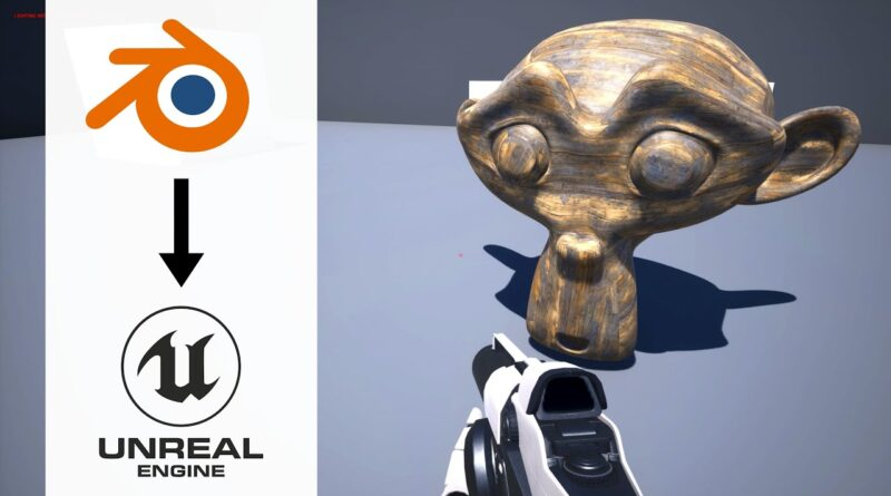How to Export Models from Blender to Unreal Engine 4 With Textures