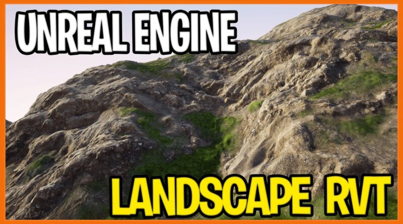 UNREAL ENGINE LANDSCAPE | How to create a terrain in UE4 with RVT Optimized for Open-World