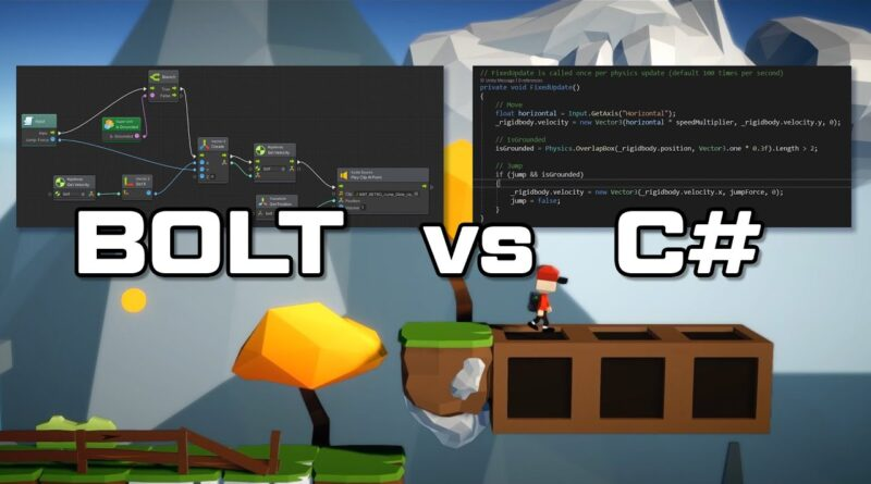 Unity Bolt vs C# Scrips - complete tutorial - which one is for you?