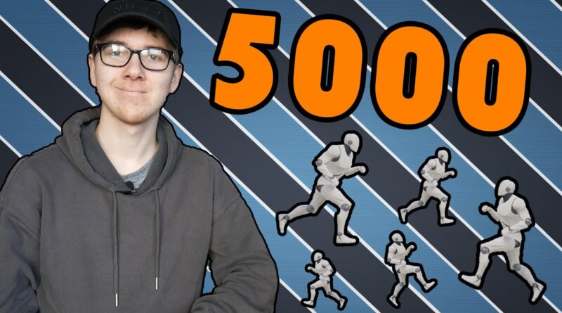 Spawning in 5000 AI's Inside Of Unreal Engine 4 | 5000 Subscriber Special