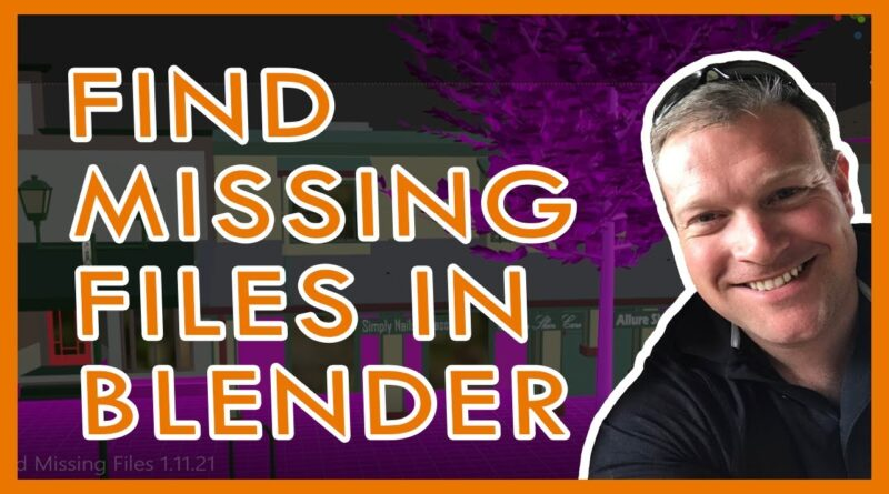 How to Find Missing Files in Blender 2.91 (And Fix Those Pink Materials  Textures) Beginner Tutorial