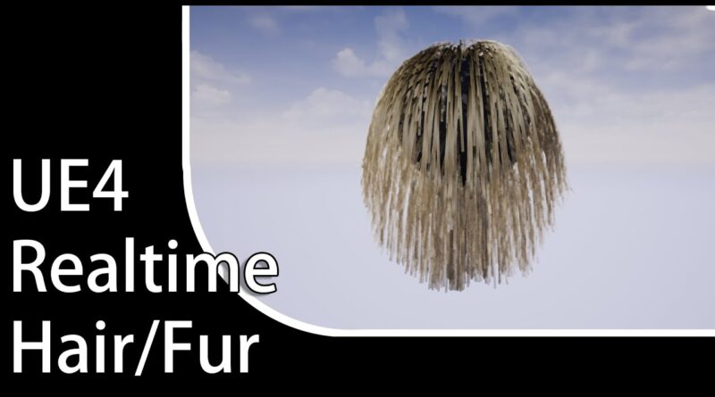 UE4 Realtime Hair/Fur - TUTORIAL - 3ds max to Unreal Engine 4
