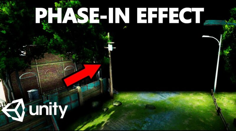 HOW TO MAKE A PHASE-IN EFFECT WITHOUT SHADERS - MINI UNITY TUTORIAL