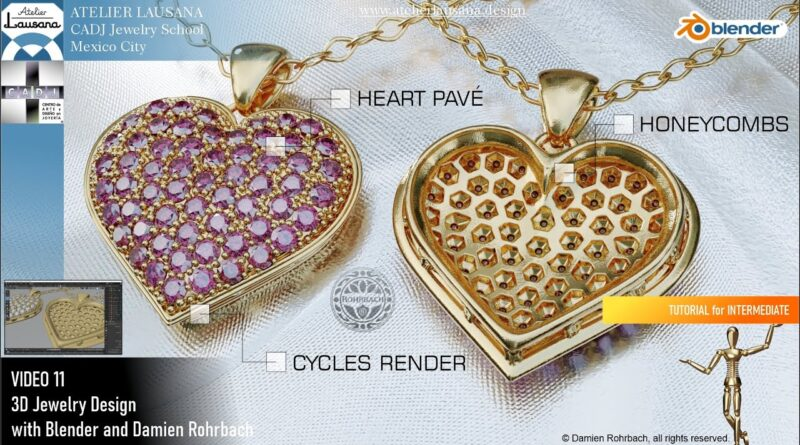 TUTORIAL 11 3D Jewelry design with Damien Rohrbach and Blender