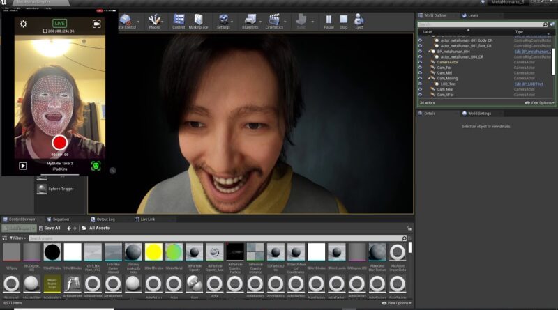 Simple Beginner Tutorial UNREAL Metahuman and Live Link (Face and Head recognition)