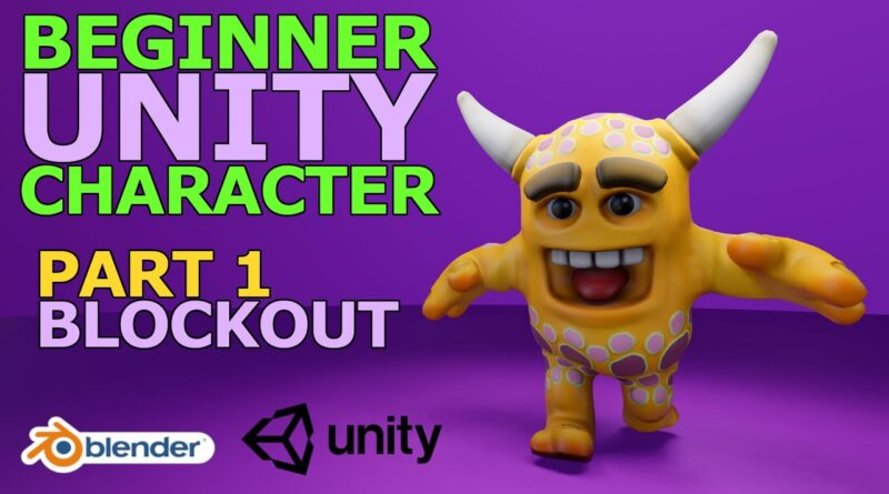 Blender Tutorial - Beginner Unity Character - Part 1 of 9: Introduction & Rough Blockout