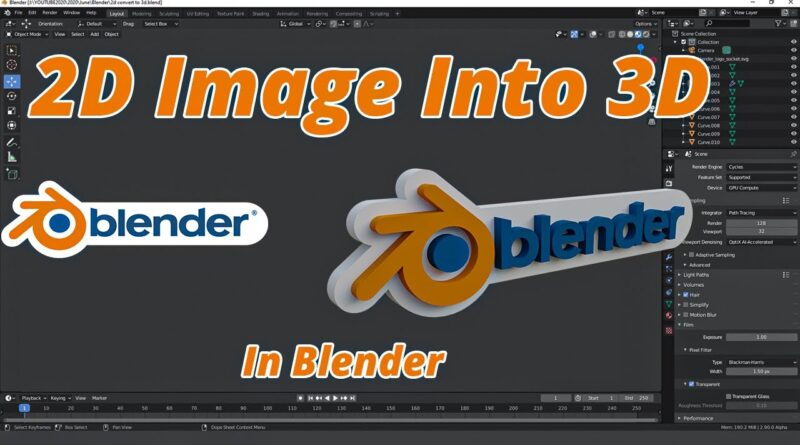 How To Convert 2D image Into 3D || Blender Tutorial || Quick Tips