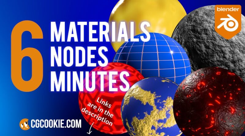 6 Blender Materials With 6 Nodes In Six Minutes!   Blender material tutorial 2.9