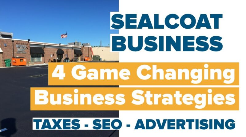 Sealcoat Business - 4 Game Changing Business Strategies For Taxes, Sales & Marketing