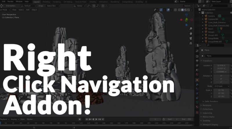 BLENDER - Right Mouse Navigation! -Yes!
