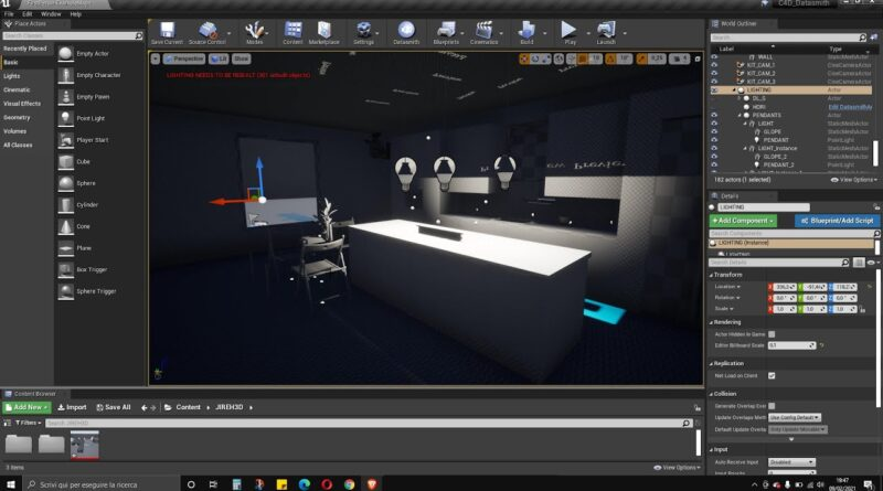Video Guide - Export Cinema 4D Scene and Import into Unreal Engine Editor Using Datasmith Plugin