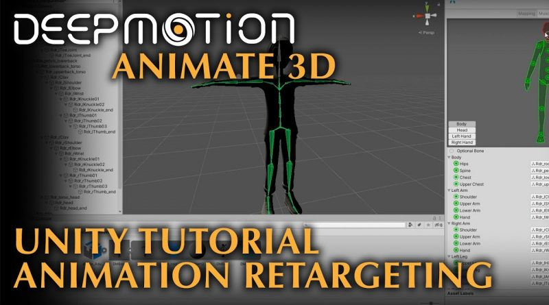 DeepMotion: Unity 3D Tutorial - Retargeting Animations | Animate 3D