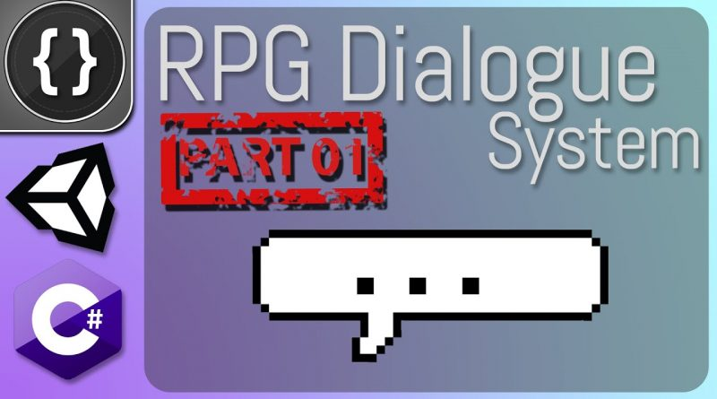 RPG Dialogue System (Part 01) [Unity Tutorial]