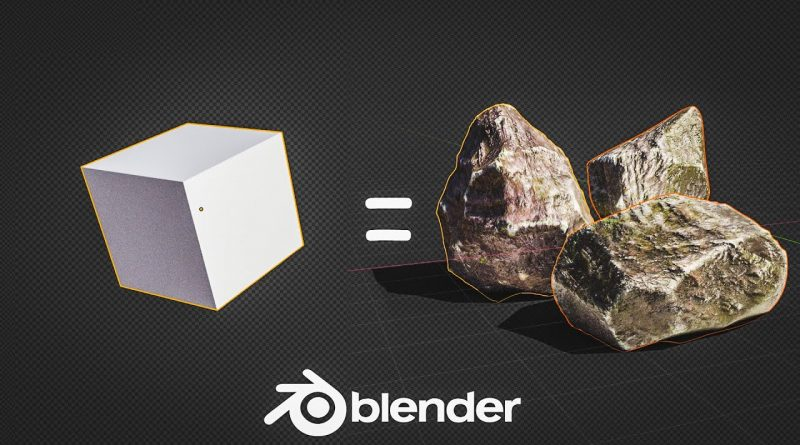 How to Create Low Poly Rocks in 1 Minute