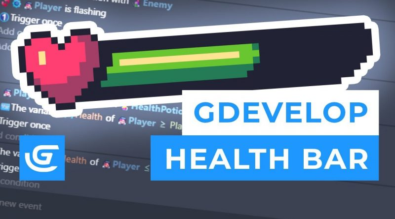 How to Create a Health Bar and Health Potion in GDevelop ( Free 2D Game Engine ) - Tutorial