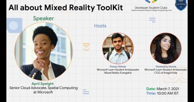 All About Mixed Reality by April Speight - DSC MESCOE & Microsoft Learn Student Ambassador