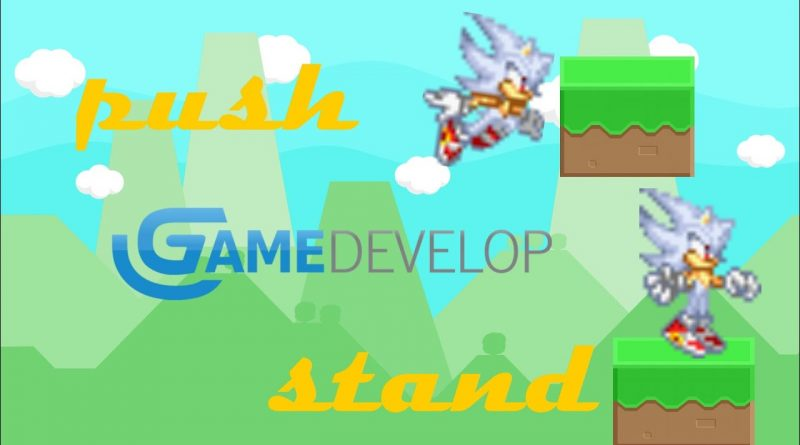 How to PUSH and STAND ON A BLOCK PLATFORM in gdevelop 5 platformer