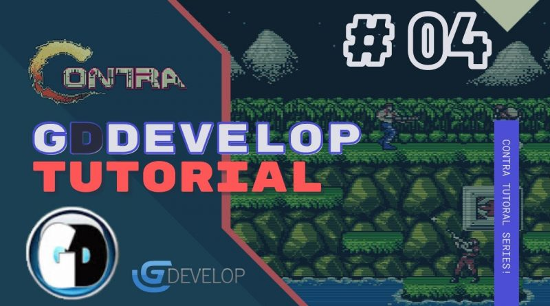 Gdevelop FREE VISUAL Game Engine: CONTRA Tutorial #04 - Shooting Bullets