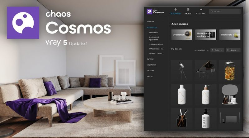 Free library assets from Chaos Group? l Chaos Cosmos V-Ray 5 Update 1