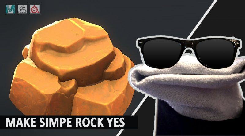 Making a Stylized Simple Rock with Zbrush, Maya, and Substance Painter