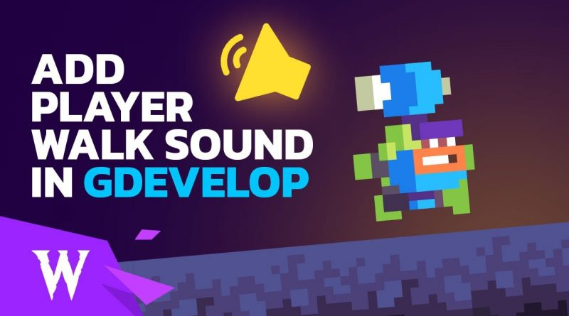 How to Add Walking / Footstep Sound Effect to Your Platformer Character in GDevelop 5