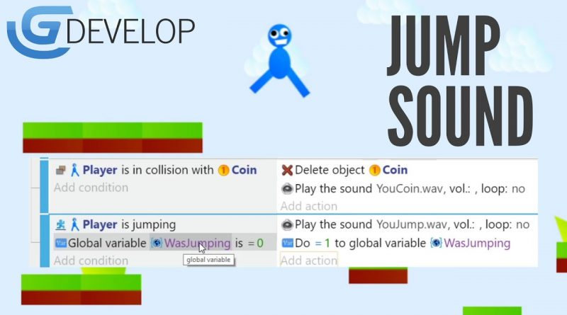 How to add a Jump Sound in GDevelop5