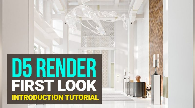 D5 Render First Look - Real Time Raytracing Renderer - Introduction Tutorial