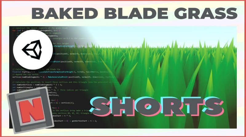 Blade Grass! Procedurally Generate a Field Mesh Using a Compute Shader Short 3 | Game Dev Tutorial