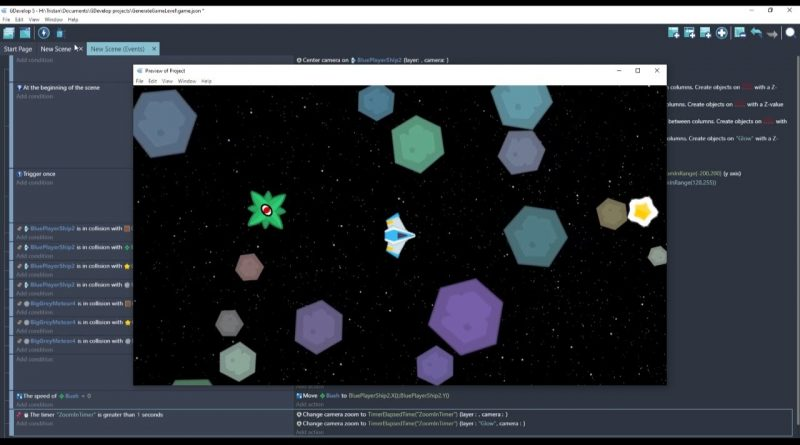 GDevelop Tutorial: Generate a game level using only a half-page of code