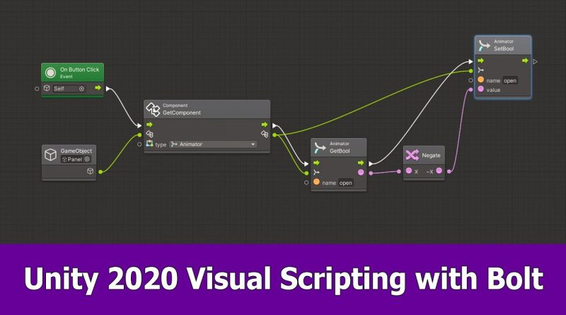 Unity 2020 Visual Scripting Tutorial with Bolt