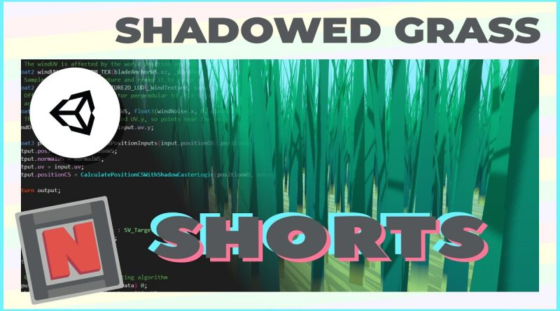 Adding Shadow Casting to Compute Shader Baked Blade Grass #Shorts 3 | Unity URP Game Dev Tutorial