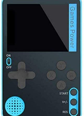 Handheld Retro Game Console Built-In 500 Classic 8 Games 2.4 Bit Screen (Blue)