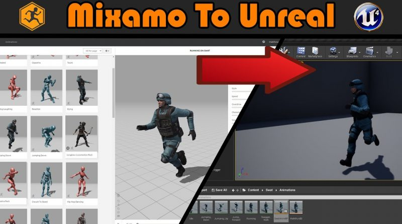 Mixamo To Unreal | Free Characters And Animations - Unreal Engine 4 Tutorial