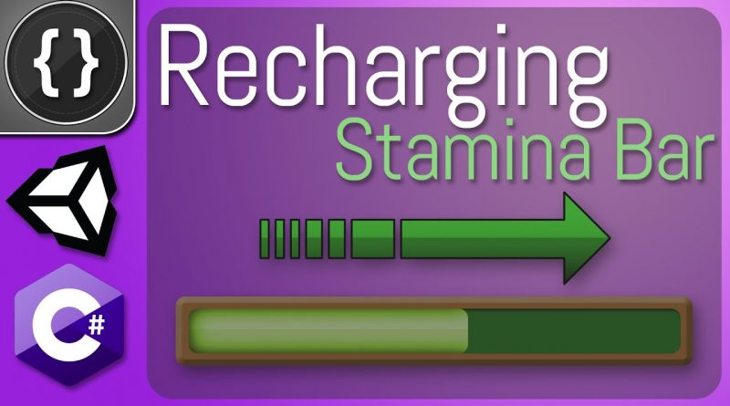 How to Make an Automatic Recharging Stamina Bar [Unity Tutorial]