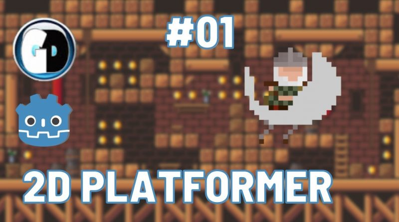 GODOT Engine  TUTORIAL Part #01:   Make Your First 2D PLATFORMER GAME with GODOT: Level & Player