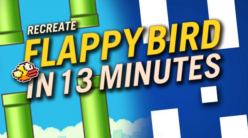 Recreate FLAPPY BIRD in just 13 MINUTES (Godot Game Engine)