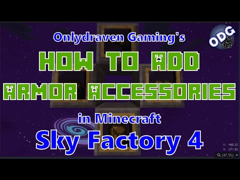 Minecraft - Sky Factory 4 - How to Add The Travellers Armor Accessories in Tinkers Construct