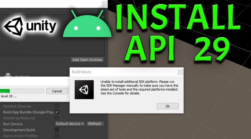 Update Unity Android SDK to API Level 29 (10) Quick Tutorial - Fix Unable to Install SDK Platform