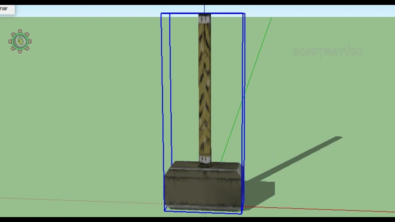 Character Weapons Created in Sketchup Pro | Mighty Hammer For Gaming Basic Beginners Tutorial.